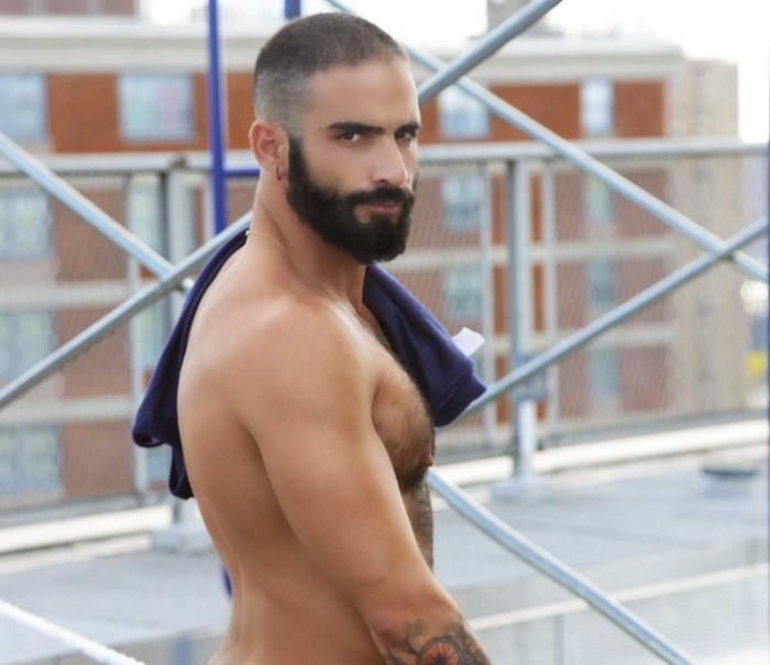 Edji-Da-Silva-Gay-Porn-Star-Beard-Shirtless-2