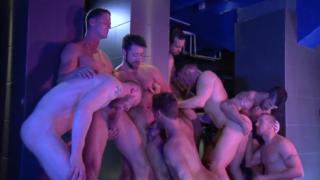 Adam Killian bareback orgy