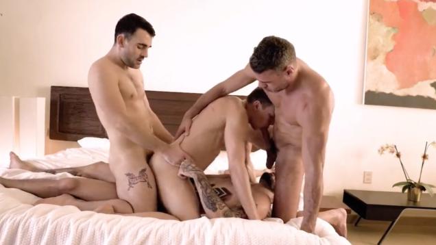 gay foursome bareback